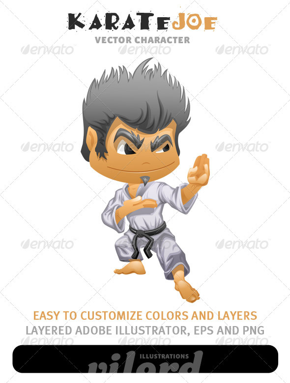Karate Boy Mascot - People Characters