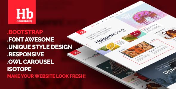 Heisennberg - Creative Responsive HTML Template (Creative)
