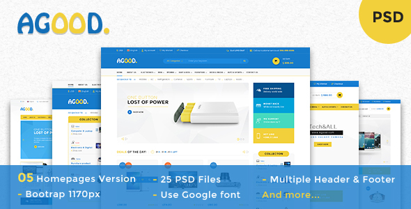 Agood - Multi-Purpose eCommerce PSD Template