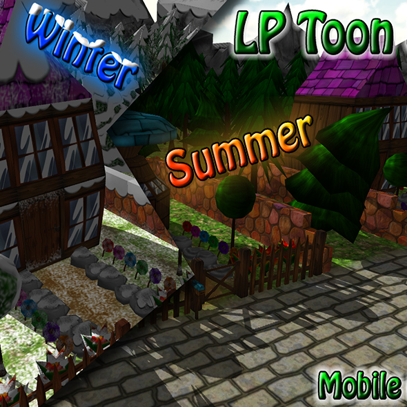 LP Toon Winter Summer - 3DOcean Item for Sale