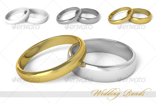 Wedding Bands - Objects 3D Renders