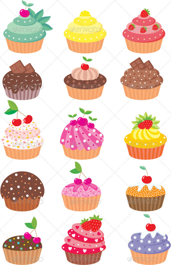 GraphicRiver Cupcakes 1580400