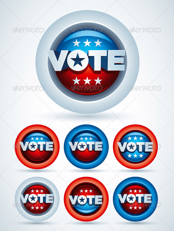 GraphicRiver Vote Badge Collection 1580475