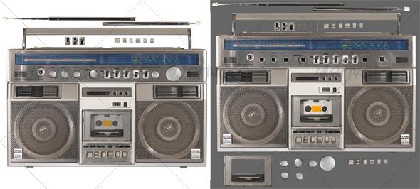 GraphicRiver Radio Cassette Recorder 2 62035