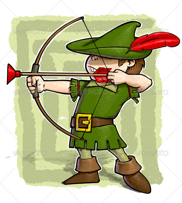 Cartoon Characters In The Hood : Little robin hood graphicriver