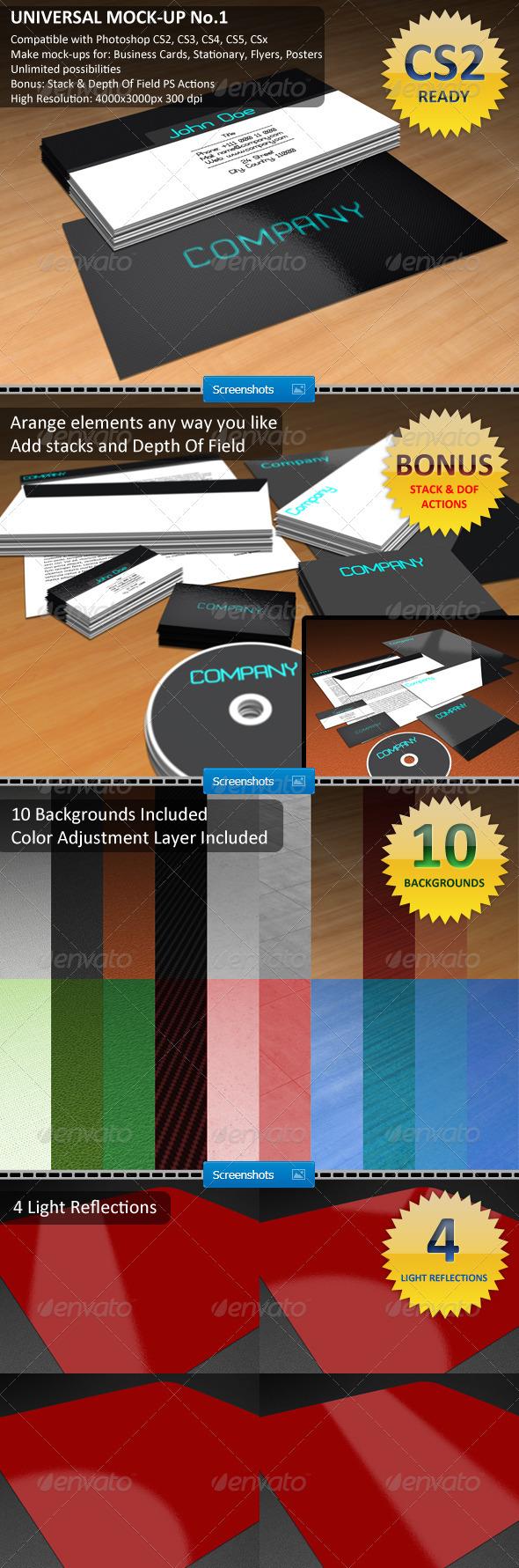 GraphicRiver Universal Mock-Up No.1 1580672
