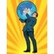 Businessman Titan Atlas Holds The Earth
