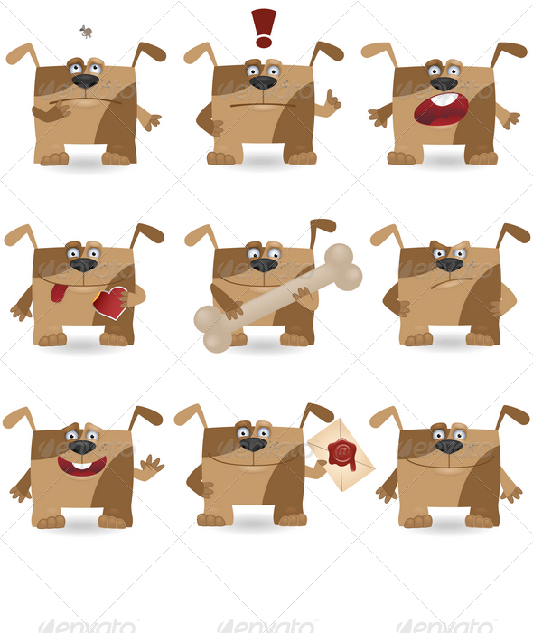 GraphicRiver Funny cartoon dogs 1580785