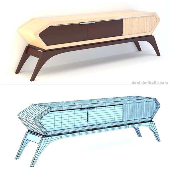 Retro Cupboard - 3DOcean Item for Sale