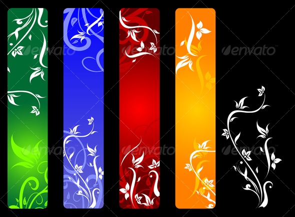 GraphicRiver Banners with flowers 62048