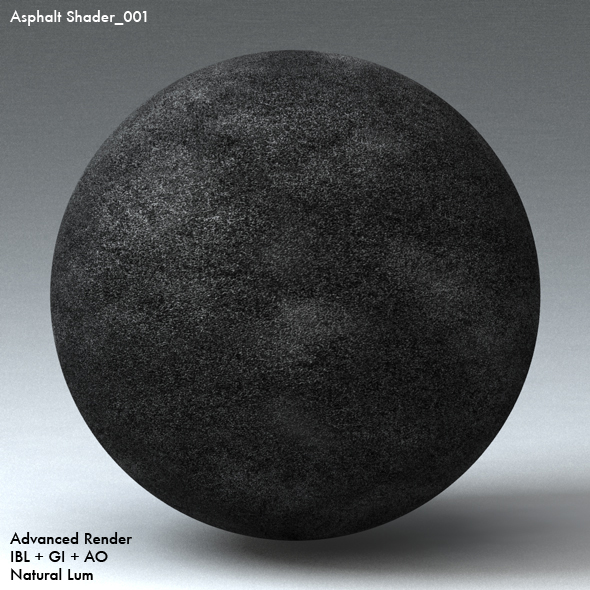 Asphalt Shader_001 - 3DOcean Item for Sale