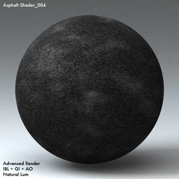 Asphalt Shader_004 - 3DOcean Item for Sale