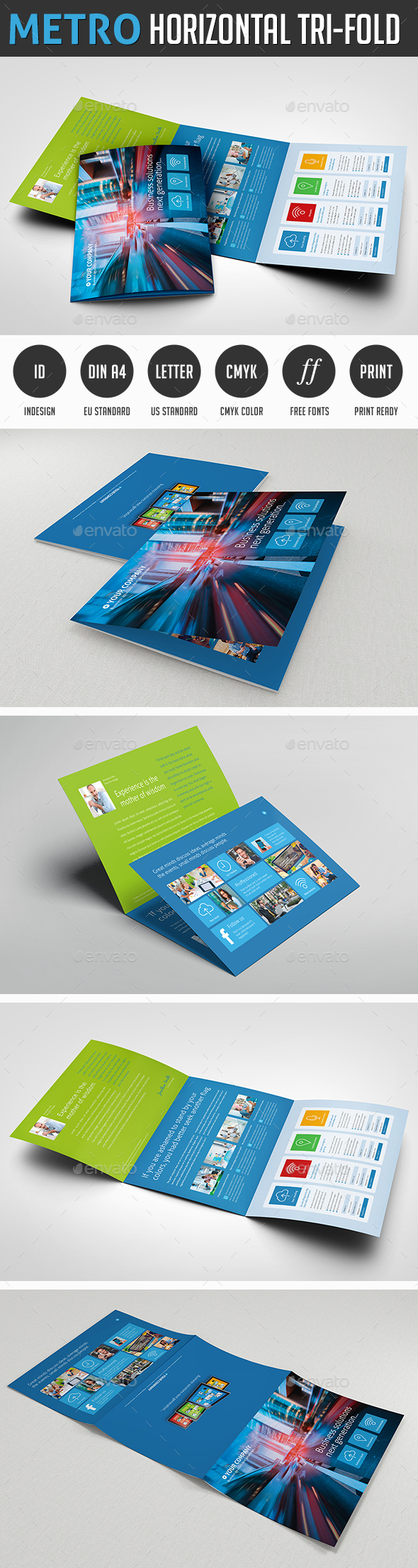 Horizontal Flyer Graphics Designs Templates From GraphicRiver - Horizontal brochure template