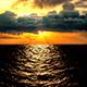 Realistic Ocean at Sunset