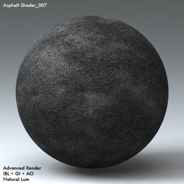 Asphalt Shader_007 - 3DOcean Item for Sale