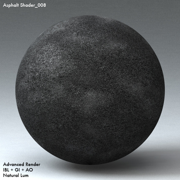 Asphalt Shader_008 - 3DOcean Item for Sale