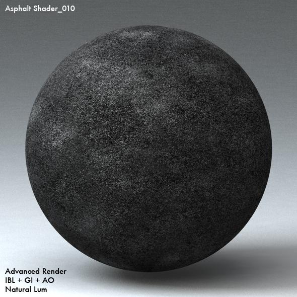 Asphalt Shader_010 - 3DOcean Item for Sale