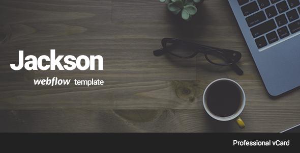 Jackson - Professional vCard Webflow Template