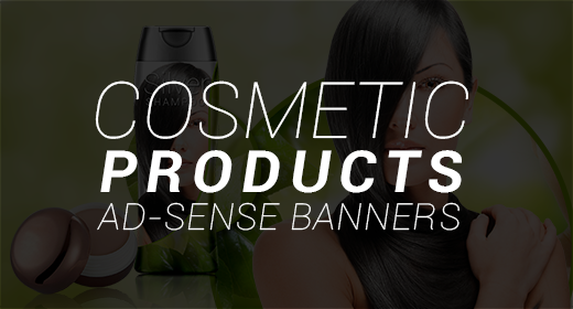 Cosmetic Products Ad-sense Banners