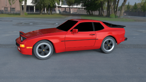 Porsche 944 new HDRI - 3DOcean Item for Sale