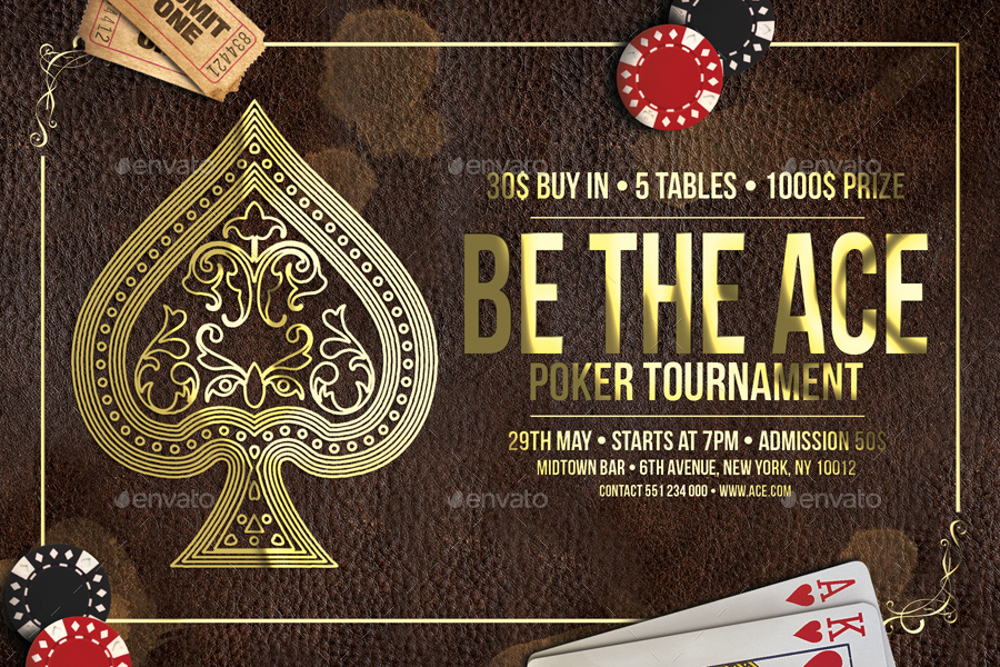 Poker posters templates