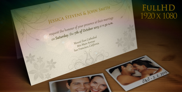 After Effects Project - VideoHive Wedding Invitation Wedding Announcement 1581651