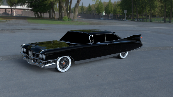 1959 Cadillac Eldorado 62 Series Coupe HDRI - 3DOcean Item for Sale