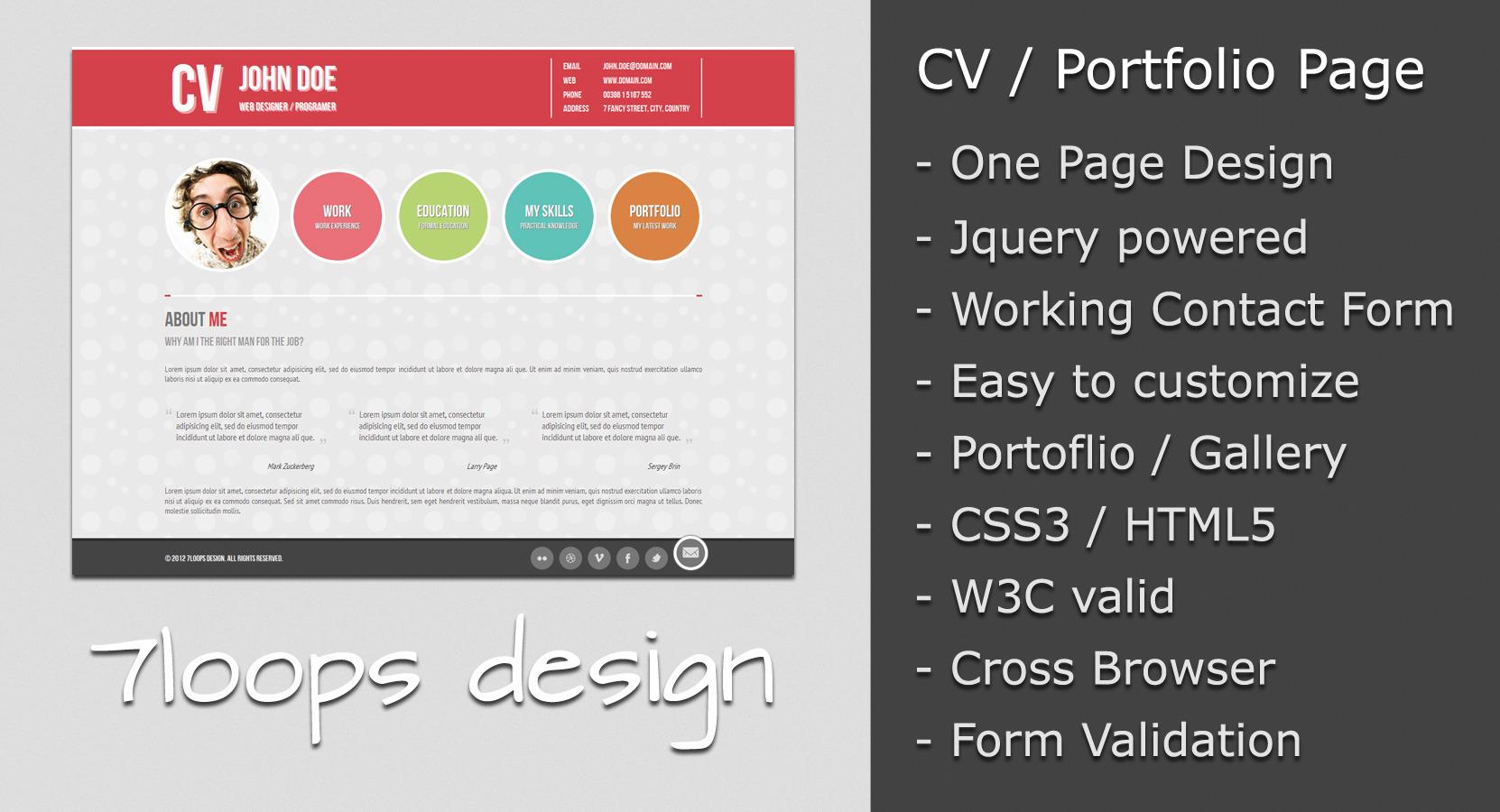 Symplicity CV / Portfolio Page