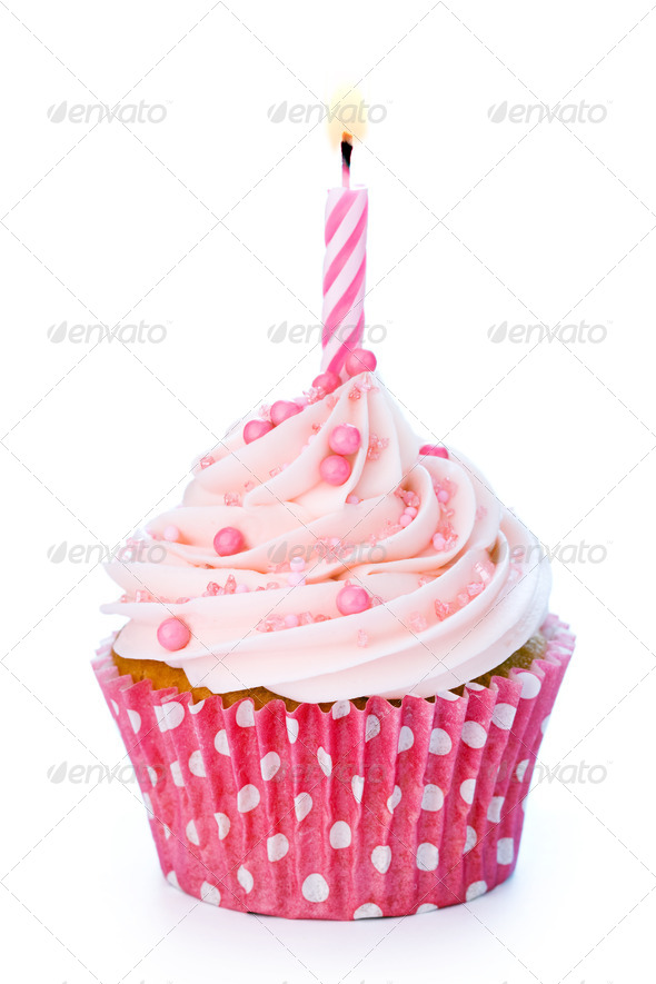 Stock Photo - PhotoDune Birthday cupcake 1587602