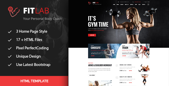 FitLab | Sports, Health, Gym & Fitness HTML Template