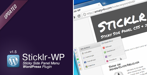 CodeCanyon Sticklr WP Sticky Side Panel WordPress Plugin 462554