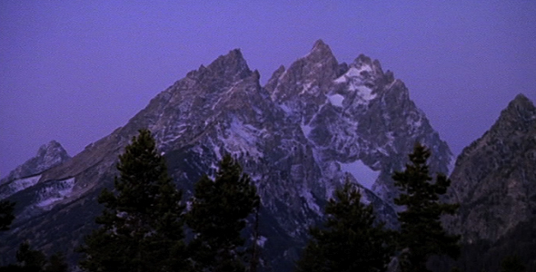 Teton Mountains at First Light