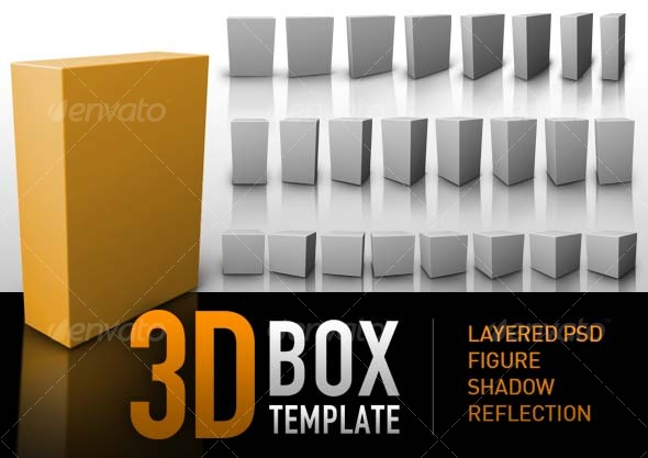 GraphicRiver 3D BOX TEMPLATE 45825