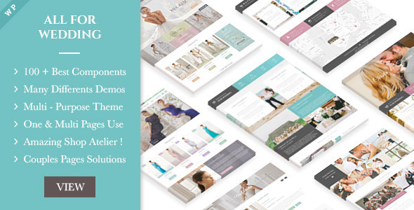 22 - Wedding Industry - Multipurpose For Wedding & Couple Site WP