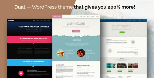 Dual - Business and Nonprofit WordPress Theme