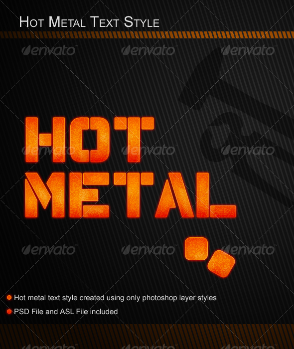 GraphicRiver Hot Metal Text Style 58588