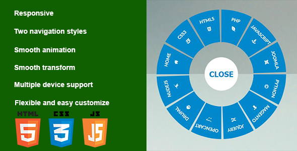 Responsive CSS3 Circular Navigation - CodeCanyon Item for Sale