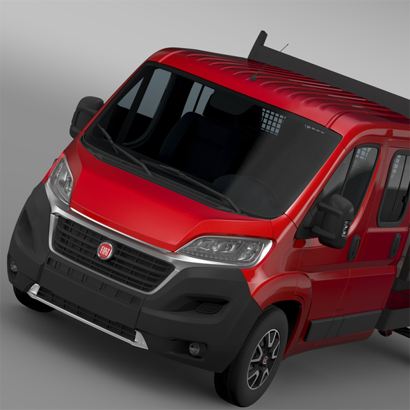 Fiat Ducato Crew Cab Truck 2016 - 3DOcean Item for Sale