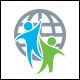 Human World Logo Template