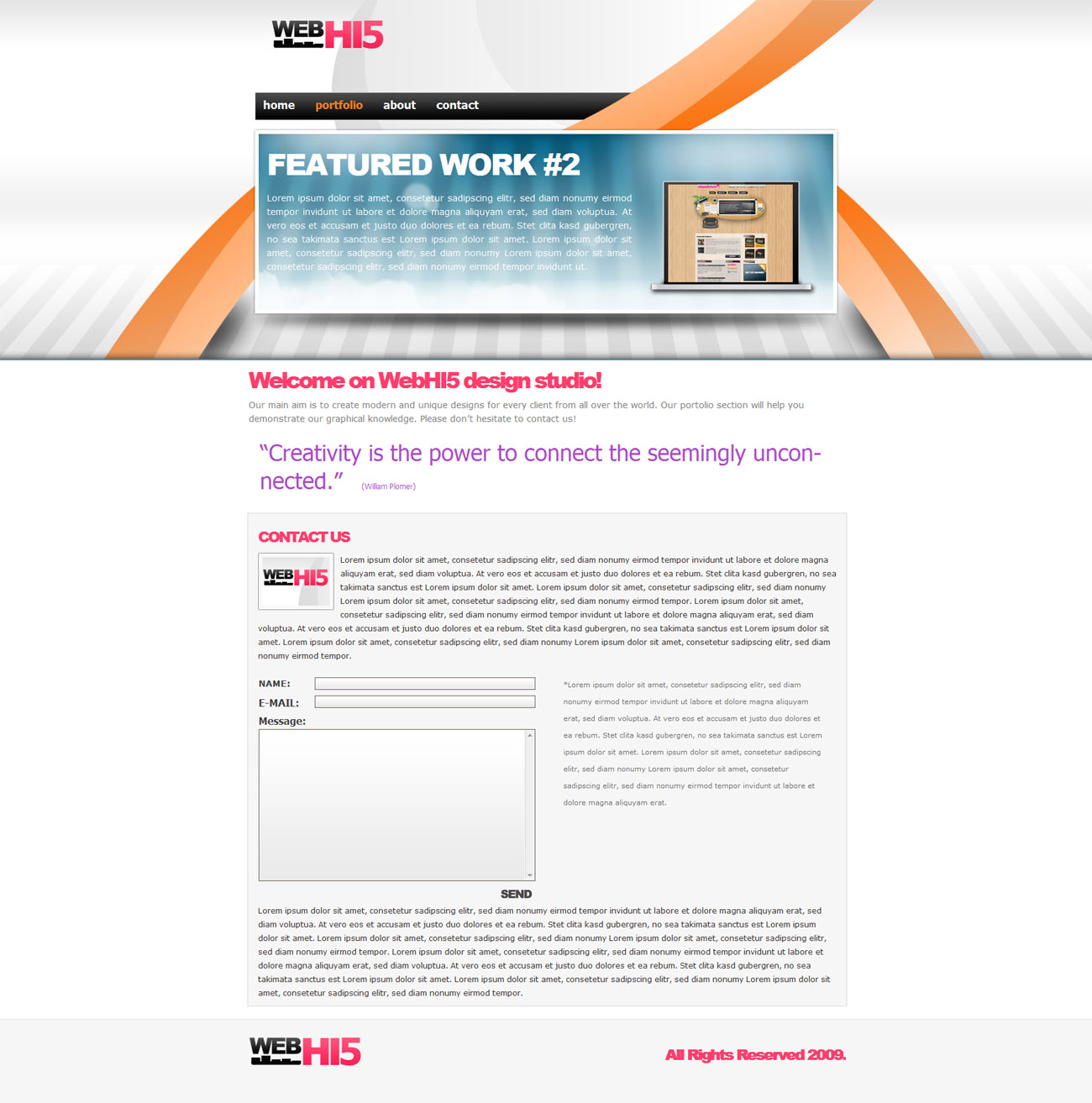 WebHI5 XHTML Design Template