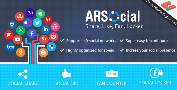 Download ARSocial - Social Share & Social Locker nulled download