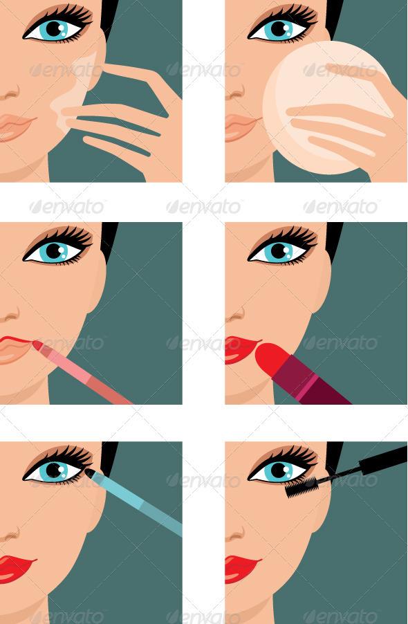 GraphicRiver Makeup-icons 1583556
