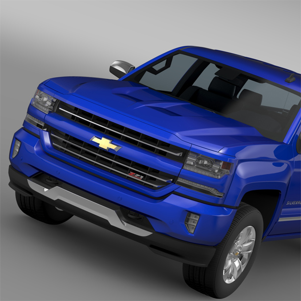 Chevrolet Silverado LTZ Z71 Crew Cab (GMTK2) Sh Box 2016 - 3DOcean Item for Sale