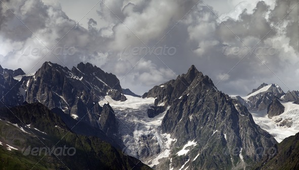 Cloudy Mountains - Stock Photo - Images