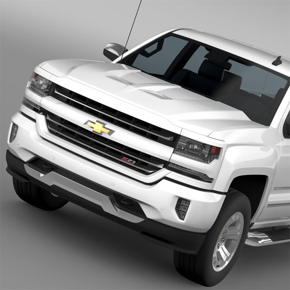 Chevrolet Silverado LTZ Z71 Double Cab (GMTK2) St Box 2016 - 3DOcean Item for Sale