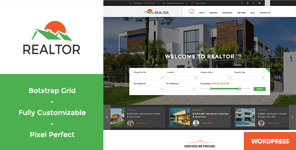 18 - Realtor - Responsive Real Estate WordPress Theme