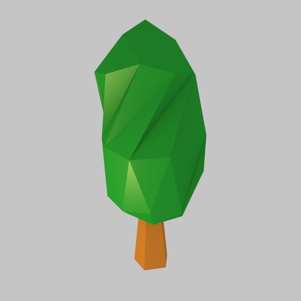 Low Poly Green Tree - 3DOcean Item for Sale