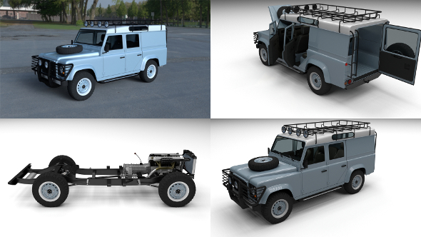 Land Rover Defender 110 Utility Station Wagon HDRI - 3DOcean Item for Sale