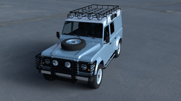 Land Rover Defender 110 Utility Station Wagon w interior HDRI - 3DOcean Item for Sale