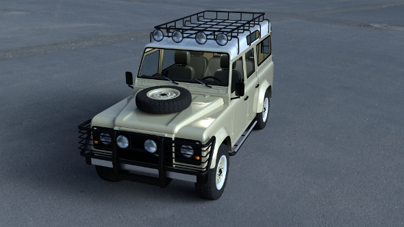 Land Rover Defender 110 Station Wagon w interior HDRI - 3DOcean Item for Sale